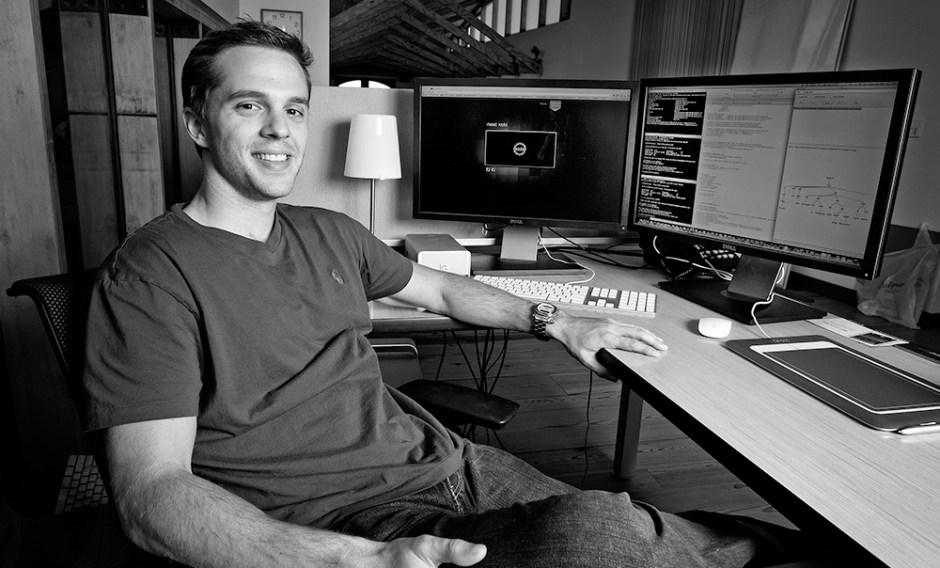 Adam Fish, co-founder of Roobiq. Photo by Hunter Wilson/Kertis Creative.