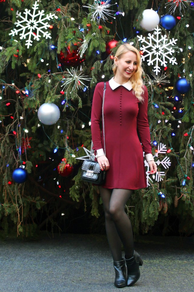 Christmas outfit - Nasty Gal Aupair Dress