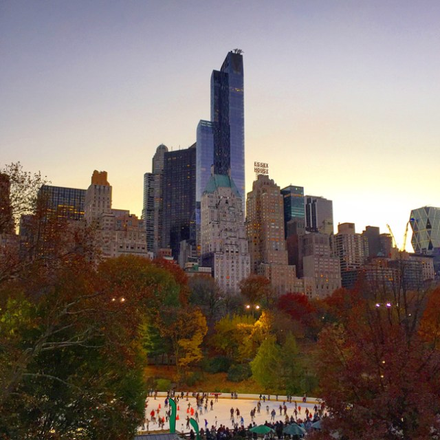 Fall evening in Central Park