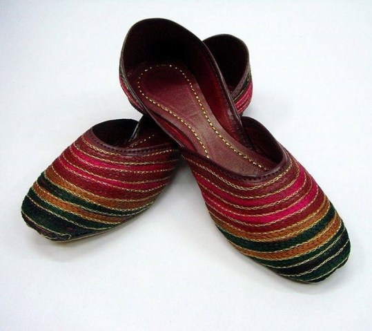 Traditional Khussa Shoes from Pakistan - Image by junaidrao
