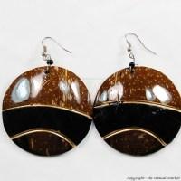Coconut Shell Earrings 721-1-99