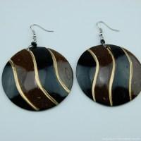 Coconut Shell Earrings 741-1-57