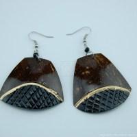 Coconut Shell Earrings 742-4-49