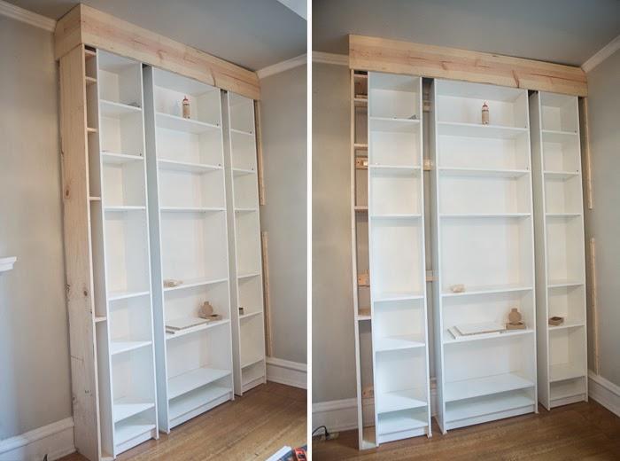 Laura39s Living Room Ikea Billy Bookshelves Hack The