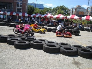 Mini-Maker Faire Evanston, IL power wheels racing series