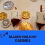 How to Make Marshmallow Dreidels