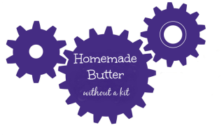 How to make butter without a kit. DIY butter from TheMakerMom.com