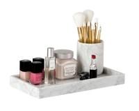 Marble Brush Holder - The Makeup Box Shop