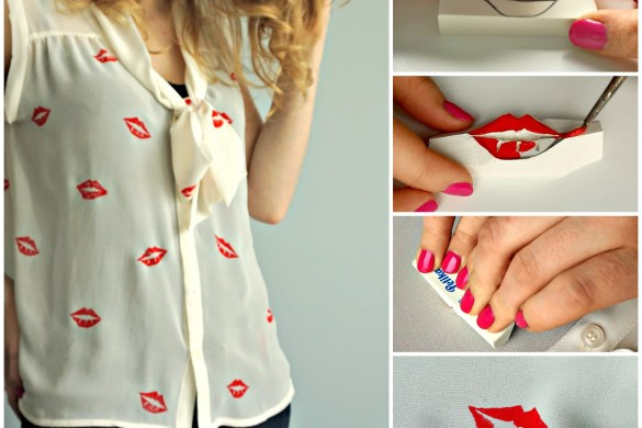 How to make your own lips stencilled shirt   A DIY by The Makeup Dummy