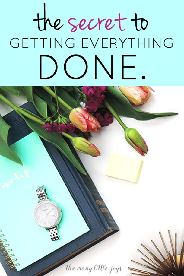 """After years of struggling with how to """"do it all"""", I've finally figured out a simple idea (though still not easy in practice) for how to get everything done."""