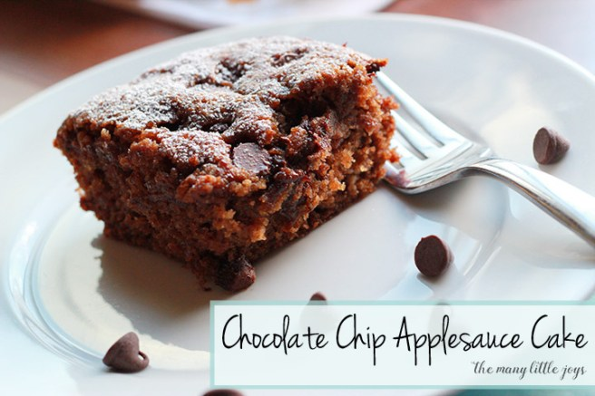This no-fuss chocolate chip applesauce cake recipe isn't overly rich, but it's moist and flavorful. It's a great choice for when you need to make dessert for a crowd but you don't want to spend a lot of time cooking.