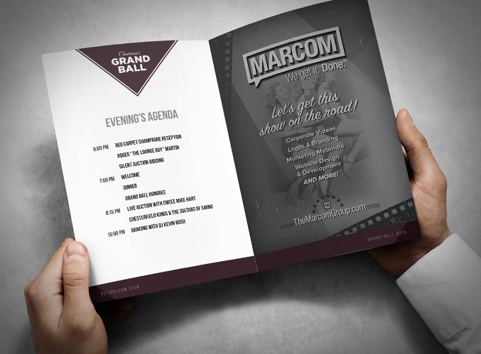 Petroleum Club - Event Collateral Design - The Marcom Group