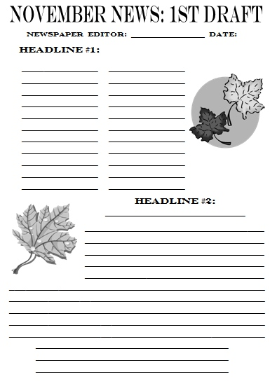 newspaper article templates - newspaper templates for kids