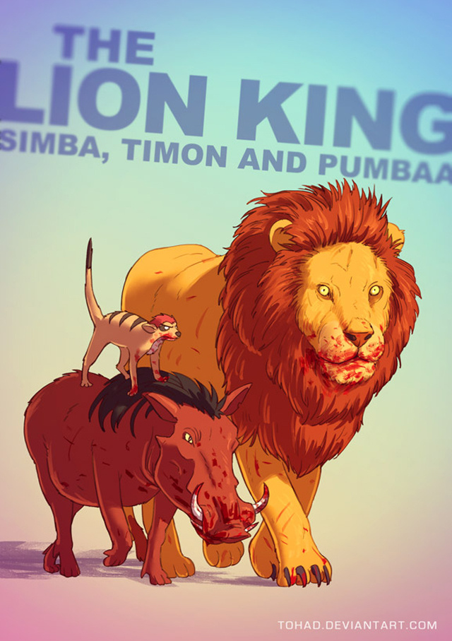 characters in the lion king scary movie