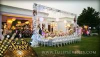 Sweet 16 Golden Party Decoration ideas in Pakistan