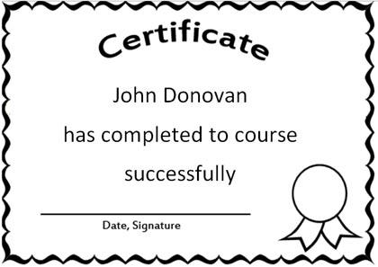 Free Certificate Word Template - print it, edit it - free certificate template for word