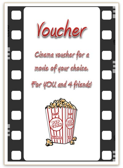 Free Cinema Voucher Template as Movie Coupon - coupon templates free