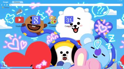 Cute Bts Wallpapers Bt21 Chrome Themes Themebeta