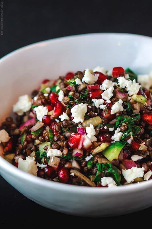 Power Brown Lentil Salad Recipe   The Mediterranean Dish