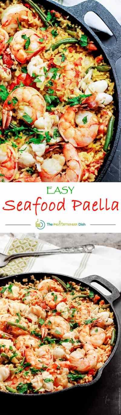 Easy Seafood Paella Recipe | The Mediterranean Dish