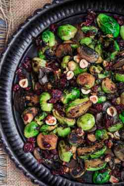 Stunning Cranberries Mediterranean Dish Olive Oil Fried Brussels Sprouts Mushrooms Olive Oil Fried Brussels Sprouts Mushrooms Cranberries Deep Fried Brussel Sprouts Leaves Deep Fried Brussel Sprouts R
