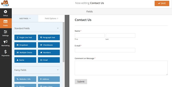 How to Add a Contact Form to Your WordPress Website - contact form template word