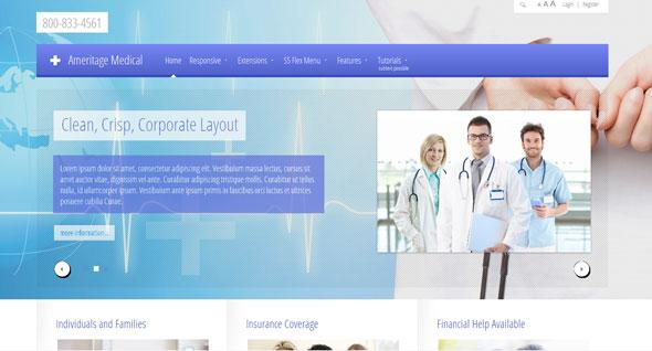 Ameritage Medical Shape5 Joomla Template » THEMELOCKCOM - FREE - doctor office website template