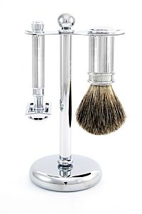 Edwin Jagger 3-Piece DE Shaving Set, Chrome Lined1