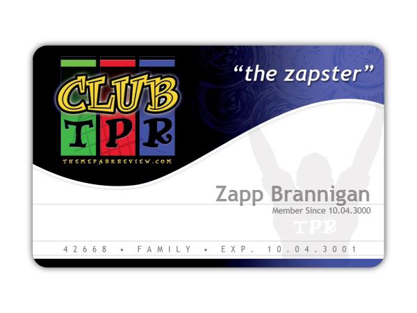 Theme Park Review \u2022 Help Design Club TPR\u0027s Logo  Membership Card - club card design