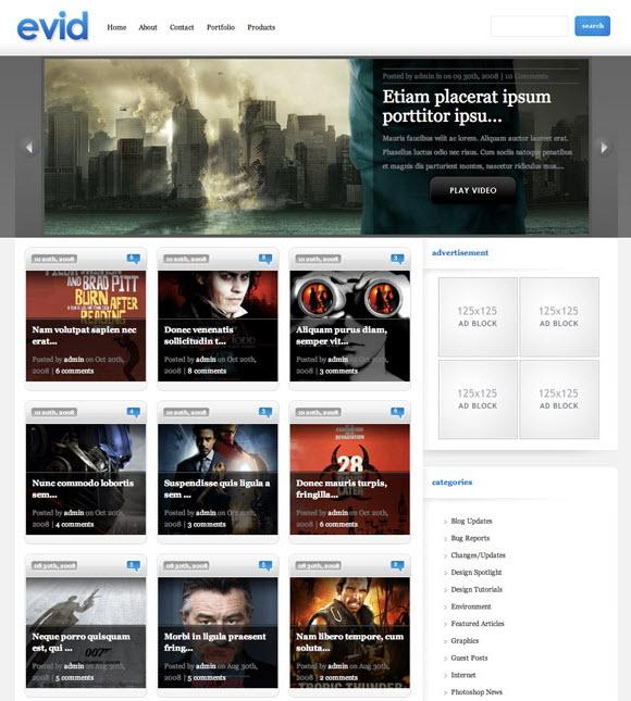 Video WordPress Theme eVid