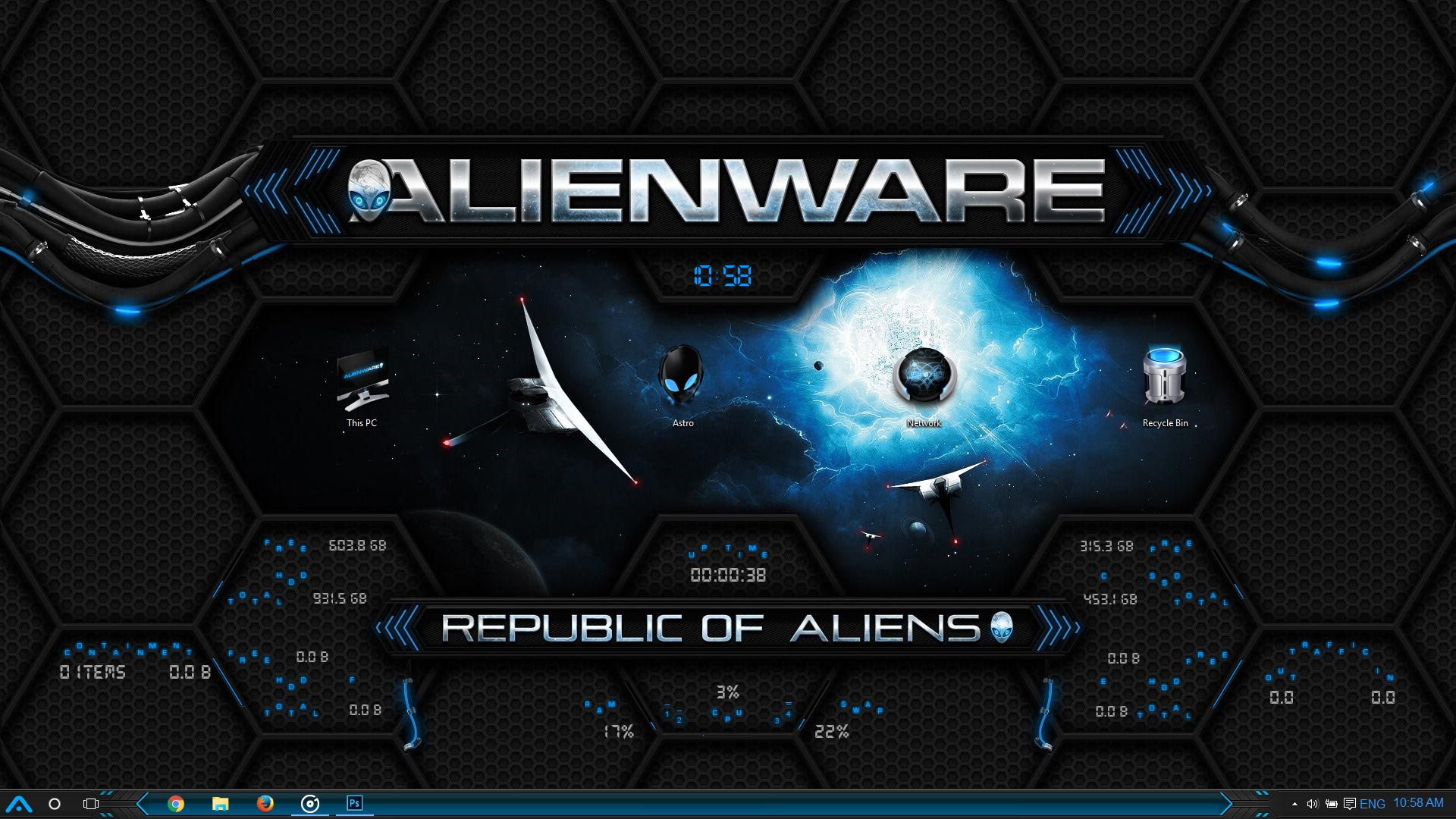 Rog Animated Wallpaper Ultimate Alienware Windows 10 Theme