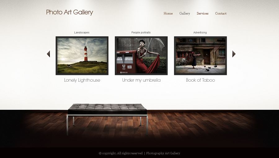 Art Gallery WP Wordpress Theme, WP Photography Gallery Template