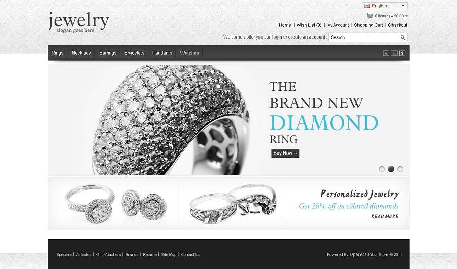 OPC030071 - Premium OpenCart Jewelry Store Theme