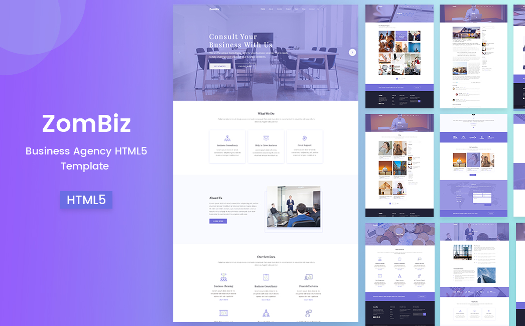 Zombiz - Free agency website template