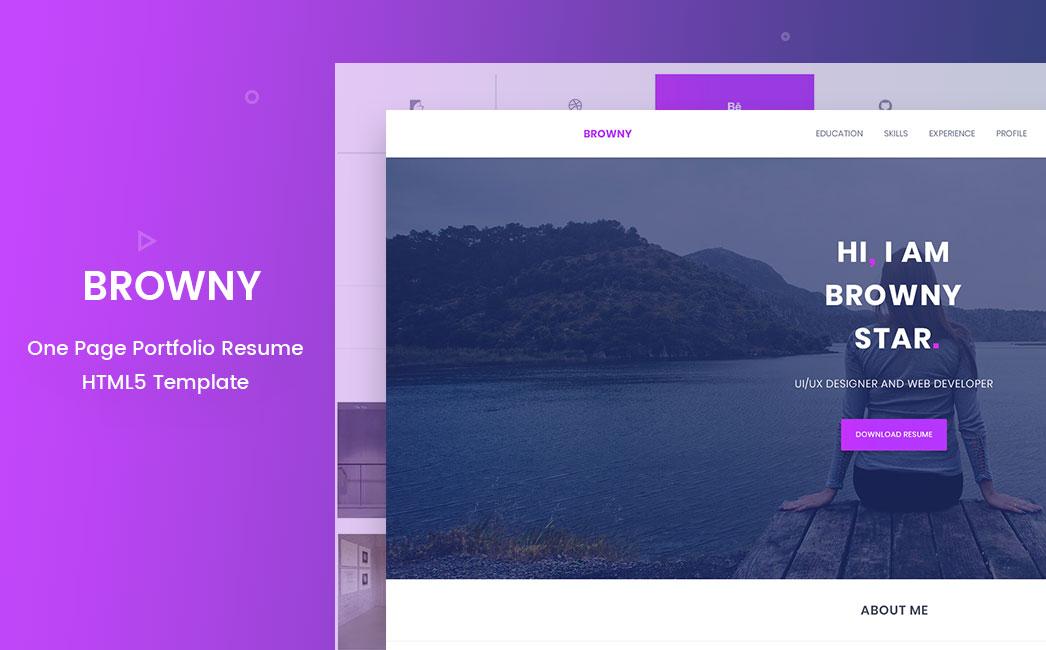 Browny - Portfolio/Resume Template - ThemeSINE