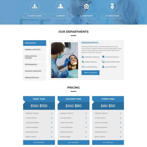 DentEx - Dental Clinic  Dentist Responsive HTML5 Template - html5 template tag