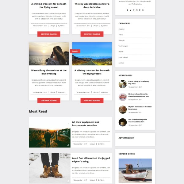 Snap Blog - A Simple  Clean Responsive HTML Blog Template