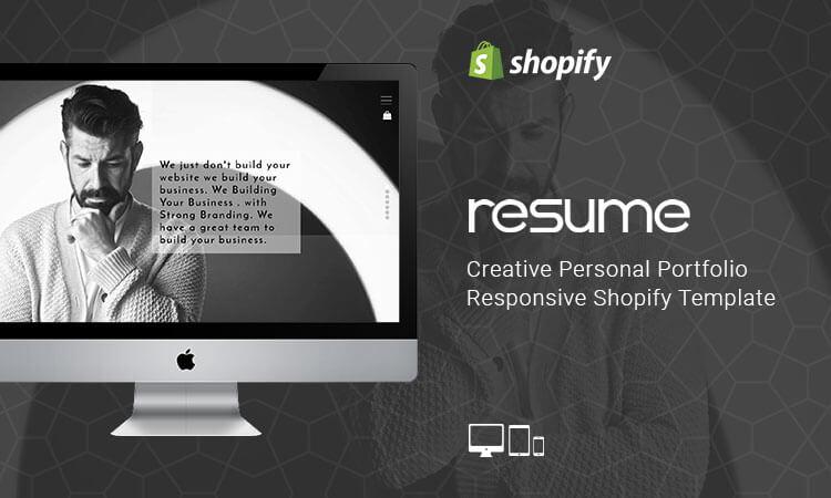 Resume - Creative Personal Portfolio Responsive Shopify Template - shopify template