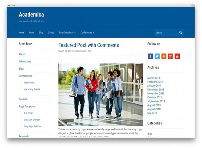 25+ Awesome Premium and Free Education WordPress Themes For School