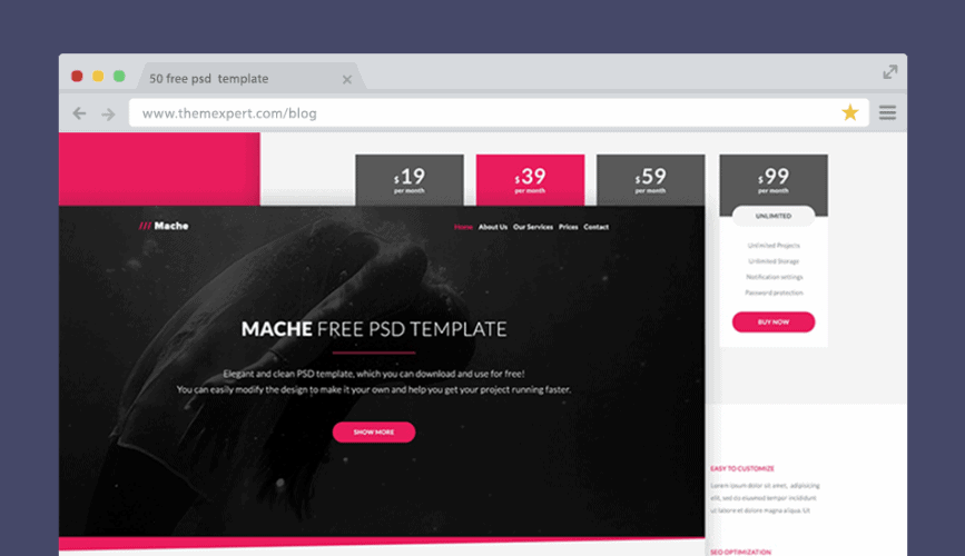 50 Free Psd Website Templates For Corporate Education