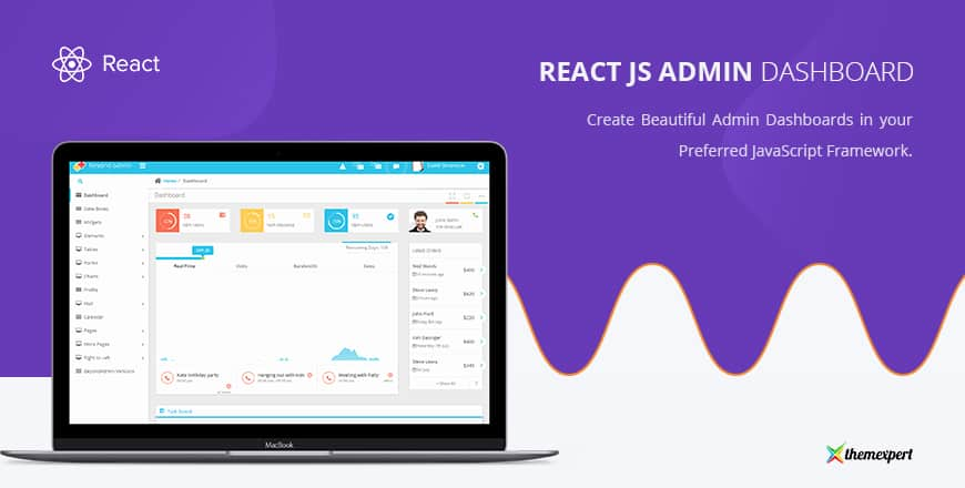 18+ Free  Premium ReactJS Admin Templates