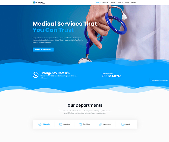 Curex-Finest Joomla Medical Template For Medical And Healthcare