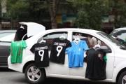 Chicharito jerseys for sale in the Condesa