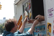 Getting a Mr. Softee cone, for the hefty price of $2