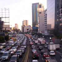Rush hour in Mexico City, taken from skyscrapercity.net