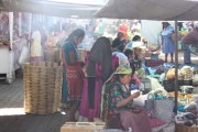 Zapotec women at the Tlacolula market in Oaxaca