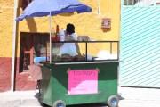 The small guacamayas stand, which I believe is on Calzada de la Luz