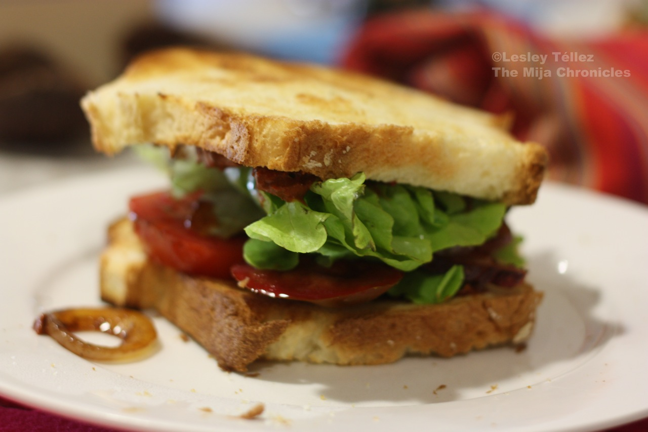 My craving for BLT's started with the bread. Not Bimbo , but thickly ...