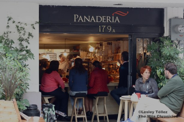 Outside Rosetta bakery in Mexico City