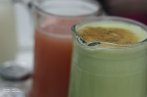 Pistachio and guava pulque at La Pirata, Col. Escandón, Mexico City.